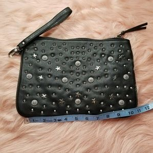 "NWOT Star Embelished Large Wristlet 11"" Long"